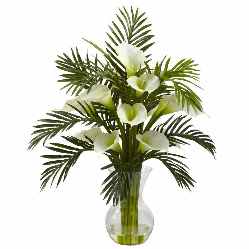 Calla Lily and Palm Combo Floral Arrangements