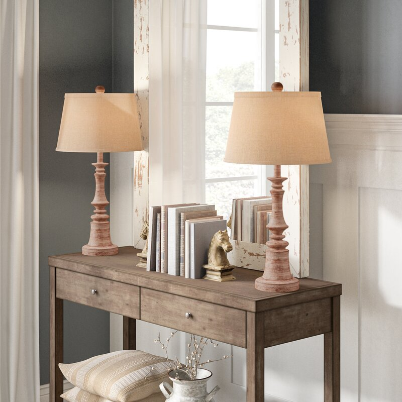 "Roxann Rustic 27"" Table Lamp (Set of 2)"