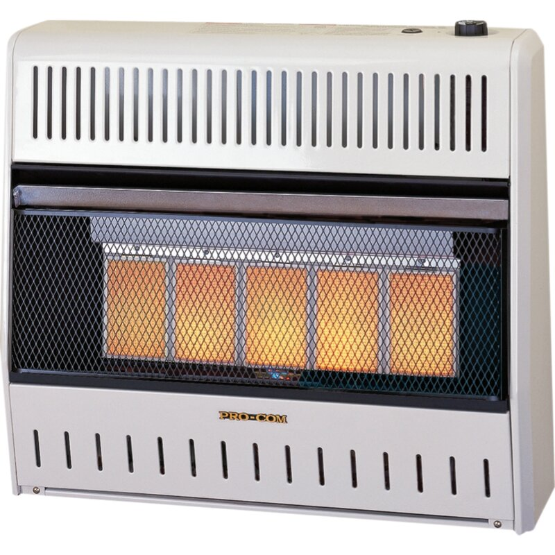 Heating Dual Fuel Ventless Space Natural Gas and Propane Infrared Wall Mounted Heater with Automatic Thermostat