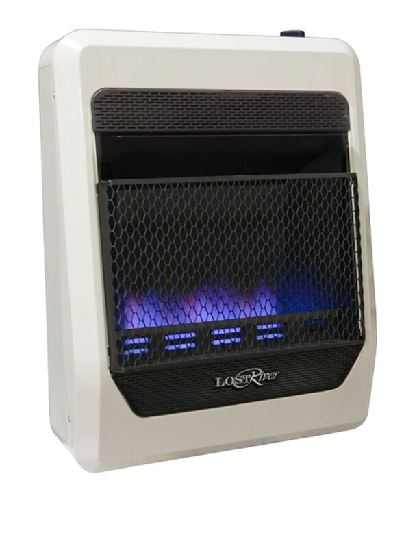 Lost River Dual Fuel Ventless Radiant Plaque Space Heater Natural Gas and Propane Infrared Wall Mounted Heater with Automatic Thermostat