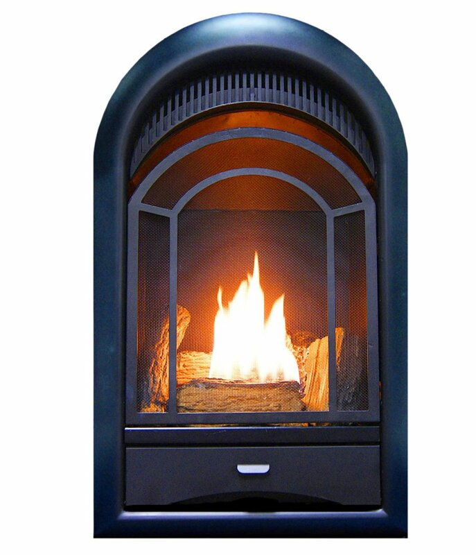 Heating Arched Door Vent Free Propane/Natural Gas Fireplace Insert