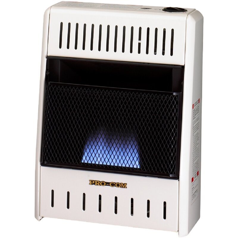 Heating Ventless Flame Natural Gas Infrared Wall Mounted Heater with Automatic Thermostat