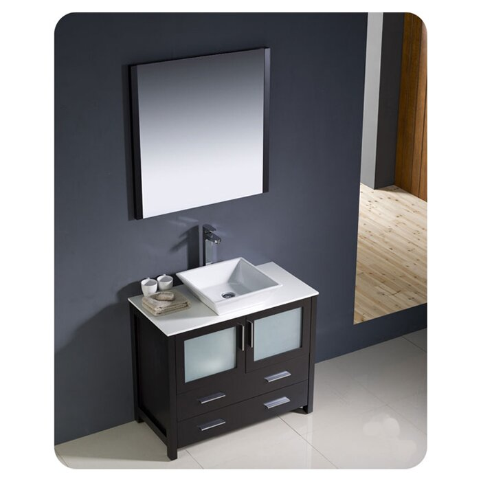 "Torino 36"" Single Bathroom Vanity Set with Mirror"