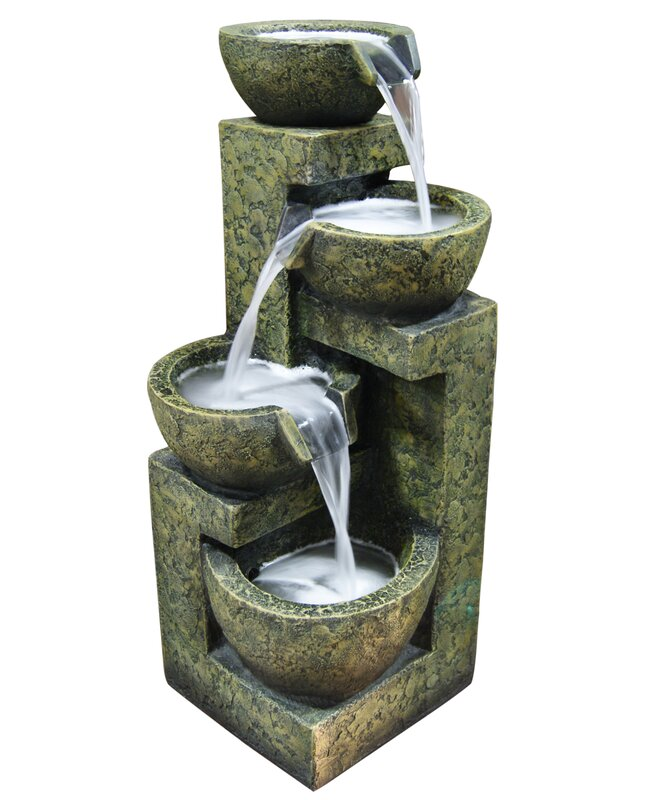 Fiberglass/Polystone Three Tier Water Fountain