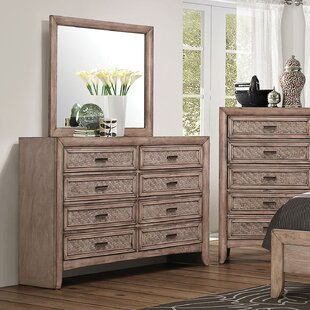 Bayou Breeze LaTayna 8 Drawer Double Dresser with Mirror Image