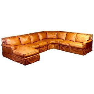 Omnia Leather Hacienda Leather Sleeper Sectional