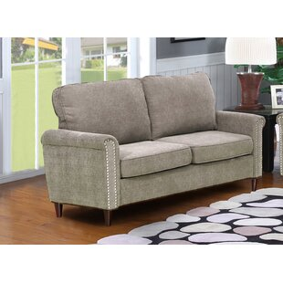 Hayton Fabric Modern Living Room Loveseat by Charlton Home