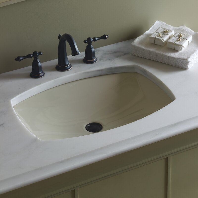 Kohler Kelston® Ceramic Rectangular Undermount Bathroom Sink with ...