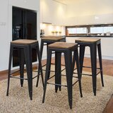Ogata Solid Wood 30 Bar Stool (Set of 4) by Williston Forge