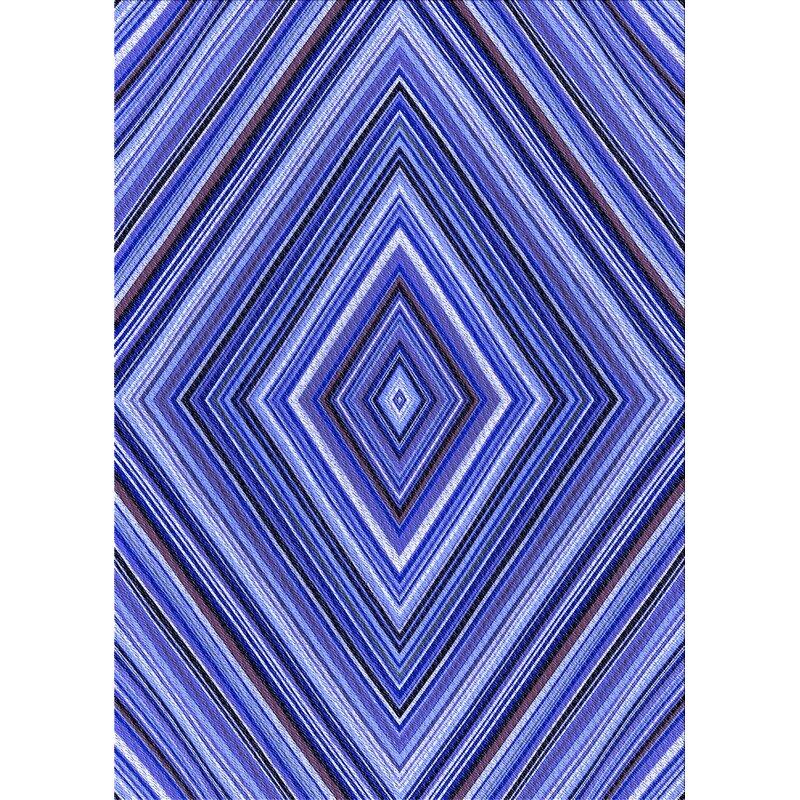 East Urban Home Pettry Geometric Wool Blue Area Rug Wayfair