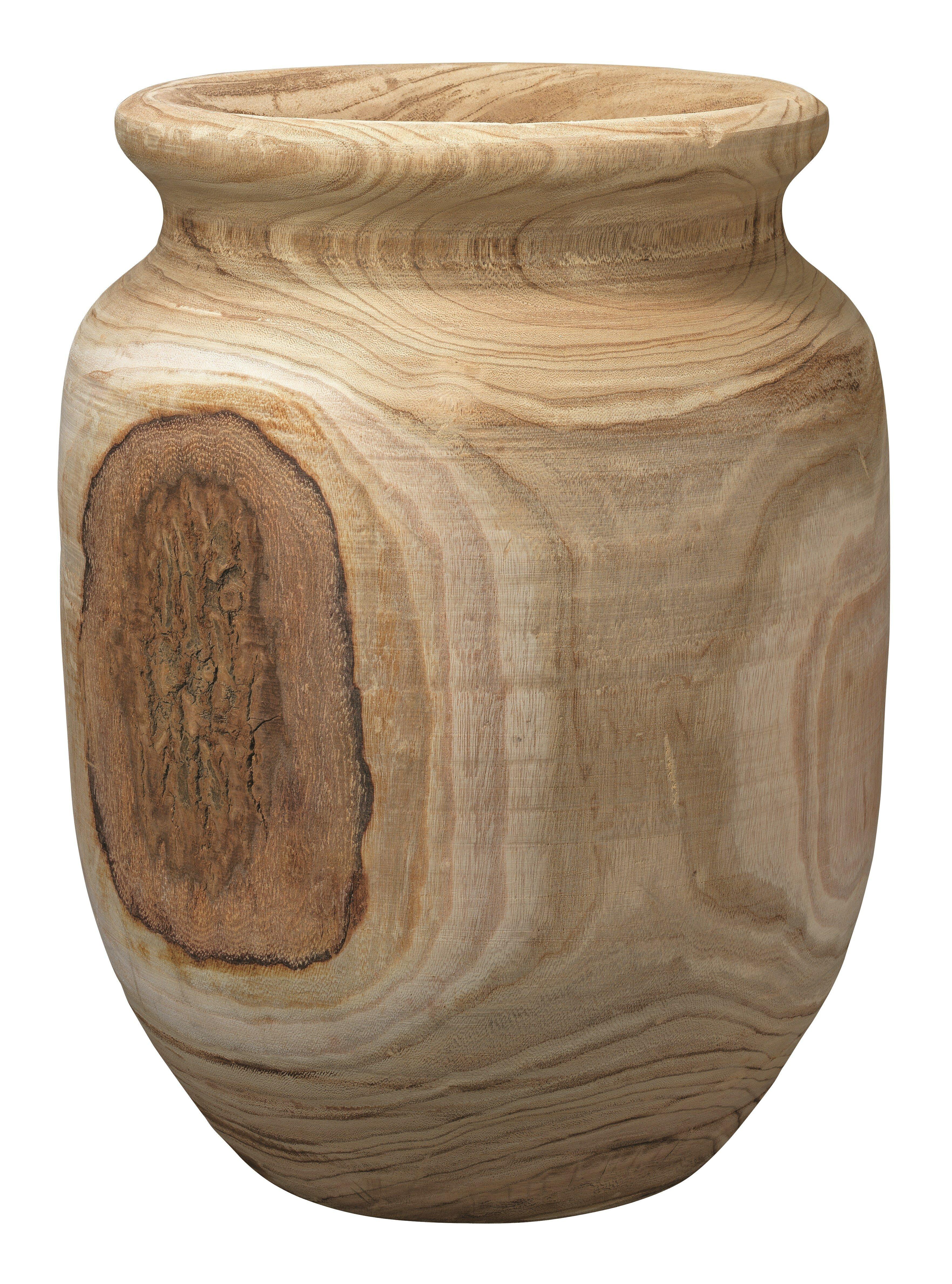 Gracie oaks baden natural wooden floor vase reviews wayfair reviewsmspy