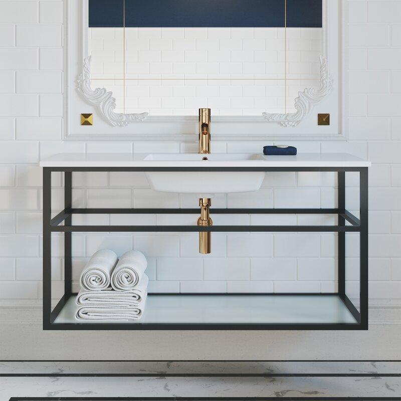 Swiss Madison Pierre 48 Single Metal Frame Open Shelf Bathroom Vanity Wayfair
