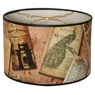 Comparison Victorian Letters Designer Hard Back 10 Paper Drum Lamp Shade By Ebern Designs