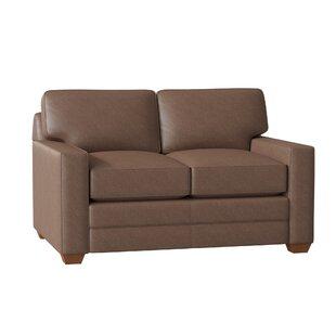 Zoie Leather Loveseat By Wayfair Custom Upholstery™