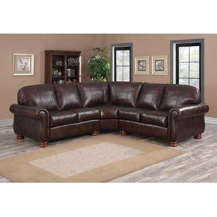 Darby Home Co Beldale Leather Sectional