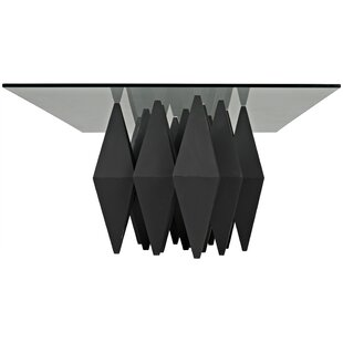 Bast Metal Coffee Table by Noir