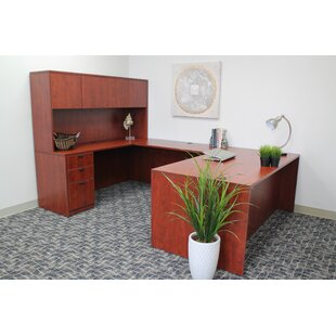 Fabiano 5 Piece U-Shape Desk Office Suite