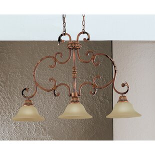 Classic Lighting Asheville 3-Light Kitchen Island Pendant