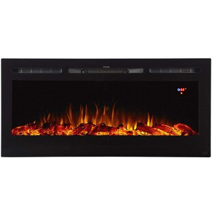 Mowery Recessed Wall Mounted Electric Fireplace by Winston Porter