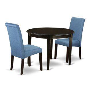 Lorena Small Table 3 Piece Solid Wood Breakfast Nook Dining Set