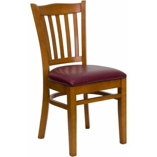 Duprey Solid Wood Side Upholstered Dining Chair Great price
