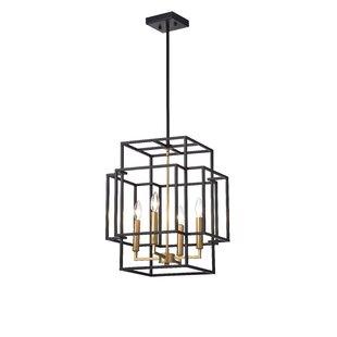 Wrought Studio Justus 4-Light Geometric Chandelier