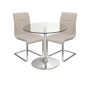 Innes Dining Set With 2 Chairs By Metro Lane