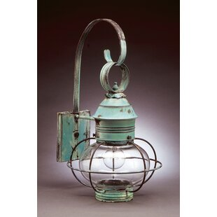 Read Reviews Onion 1-Light Outdoor Wall Lantern By Northeast Lantern