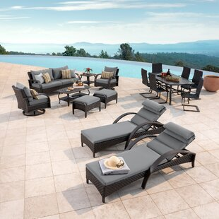 Cerralvo 16 Piece Sunbrella Complete Patio Set with Cushions by Sol 72 Outdoor