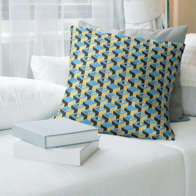 16x16 Designer Blue Throw Pillow Cover