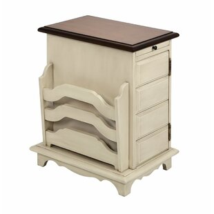 Vincent End Table with Storage by Rosalind Wheeler