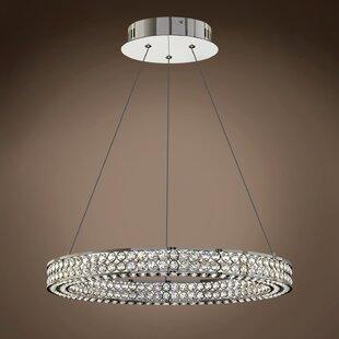 Rosdorf Park Lewandowski Ring 1-Light Crystal Pendant
