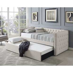 Noah Linen Upholstered Daybed with Trundle
