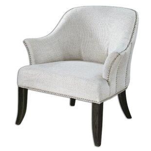 Uttermost Leisa White Barrel Chair