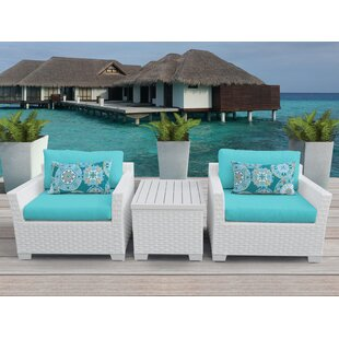 Monaco 3 Piece Conversation Set with Cushions