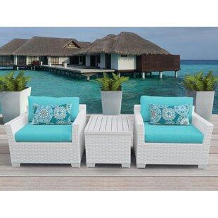 Monaco 3 Piece Conversation Set with Cushions