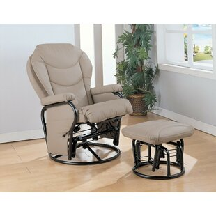 Maidenhead Baby Nursing Manual Glider Recliner with Ottoman by Harriet Bee