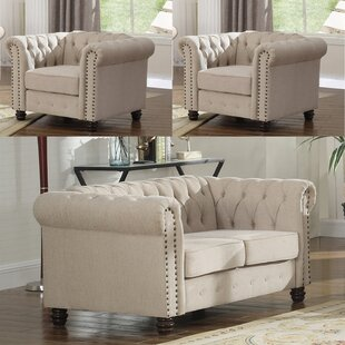 Howington 3 Piece Living Room Set