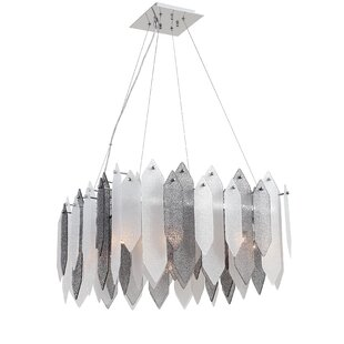 Bungalow Rose Dicle 8-Light Shaded Chandelier