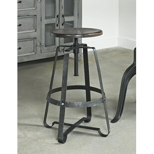 Shalanda Adjustable Height Swivel Bar Stool 17 Stories