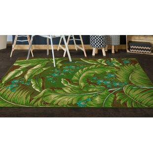 Green Leaf Area Rug Wayfair