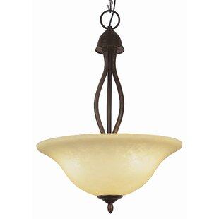 Fleur De Lis Living Clovis 3-Light Bowl Pendant
