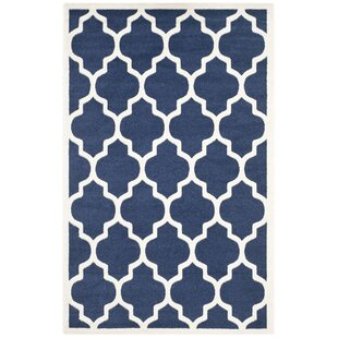 Fegley Navy/White Rug by Wrought Studio