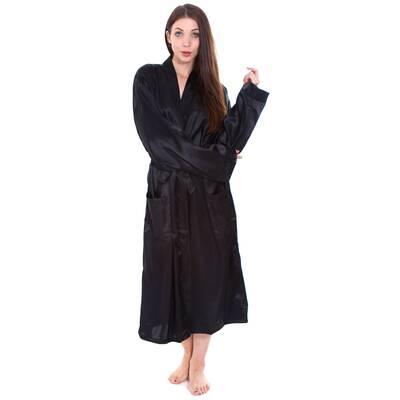 Jessup Long Kimono Style Spa Sateen Bathrobe e174227da