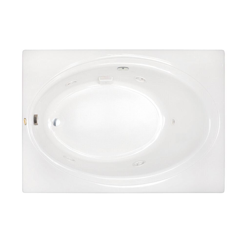 Jacuzzi Nova 60 X 42 Drop In Whirlpool Bathtub Wayfair