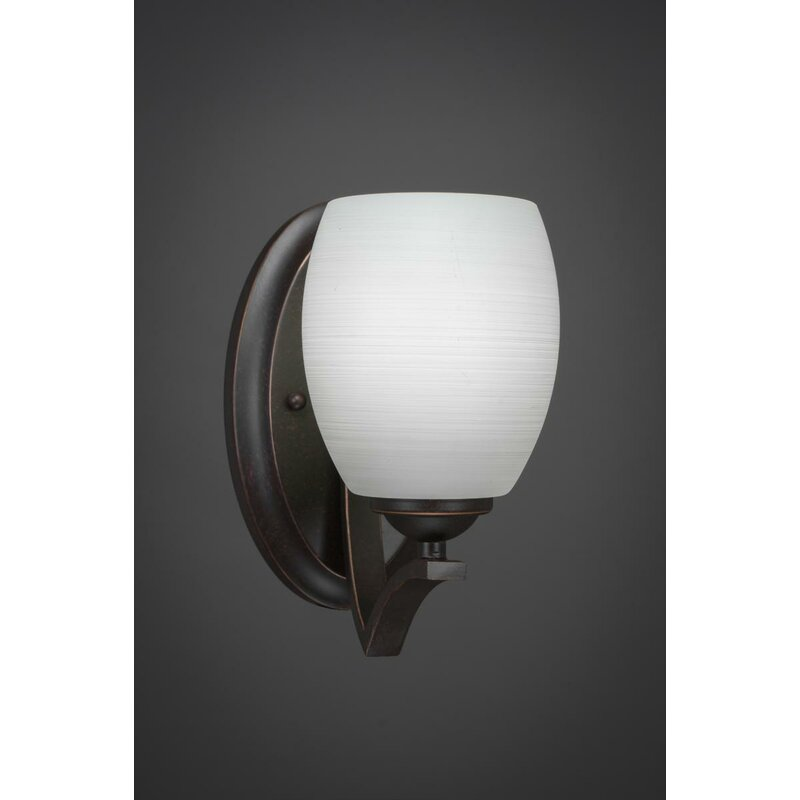 Red Barrel Studio Couto 1 Light Dimmable Dark Granite Armed Sconce Wayfair