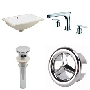 Compare & Buy Ceramic Rectangular Undermount Bathroom Sink with Faucet and Overflow ByAmerican Imaginations