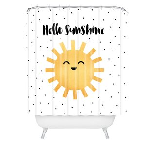 Elisabeth Fredriksson Hello Single Shower Curtain