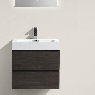 Leni 24 Wall Mounted Single Bathroom Vanity Set By Orren Ellis