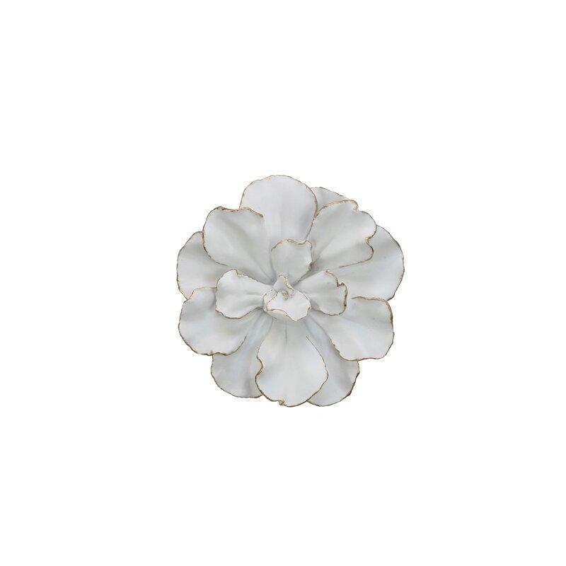 Ophelia & Co. White/Gold Flower Wall Décor & Reviews | Wayfair